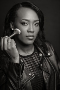 makeupartist black and white