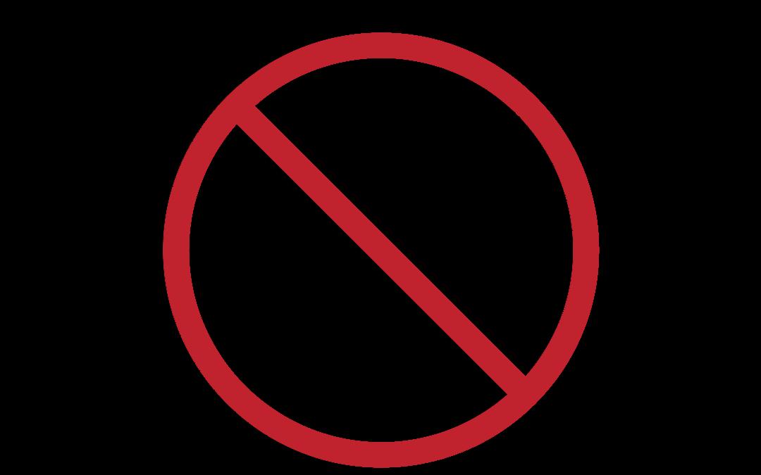 no self check zone