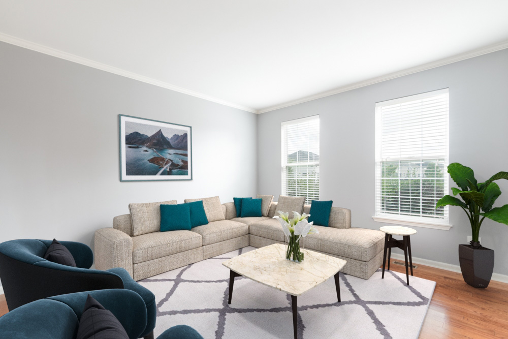 Virtual staging real estate image